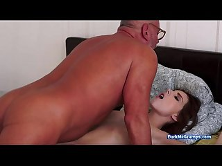 Candy fucking with a grandpa