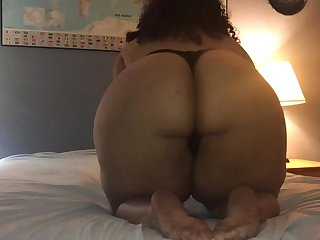 BBW Teen Sucks And Fucks Dildo, Edges and Has a Shaking Orgasms With Vibe