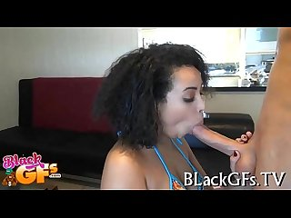 Hawt black babe banged from behind